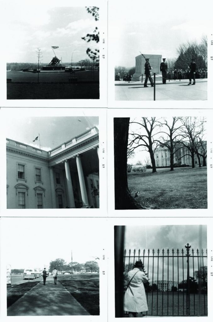 Collage of black and white photos