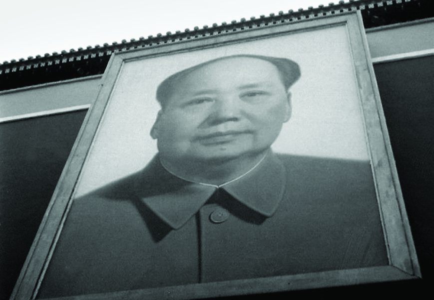 Chairman Mao in Tiananmen Square