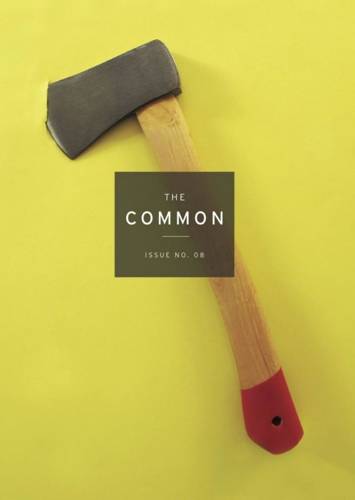 The cover of The Common Issue 8, showing an ax
