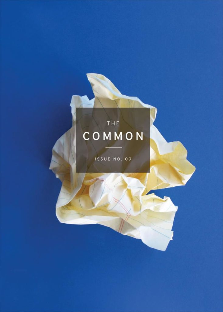 cover of The Common Issue 9, showing a crumpled piece of paper