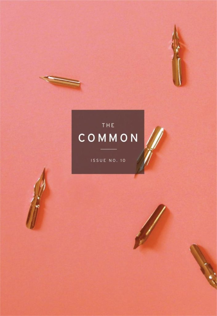 The cover of The Common Issue 10, showing pen quills