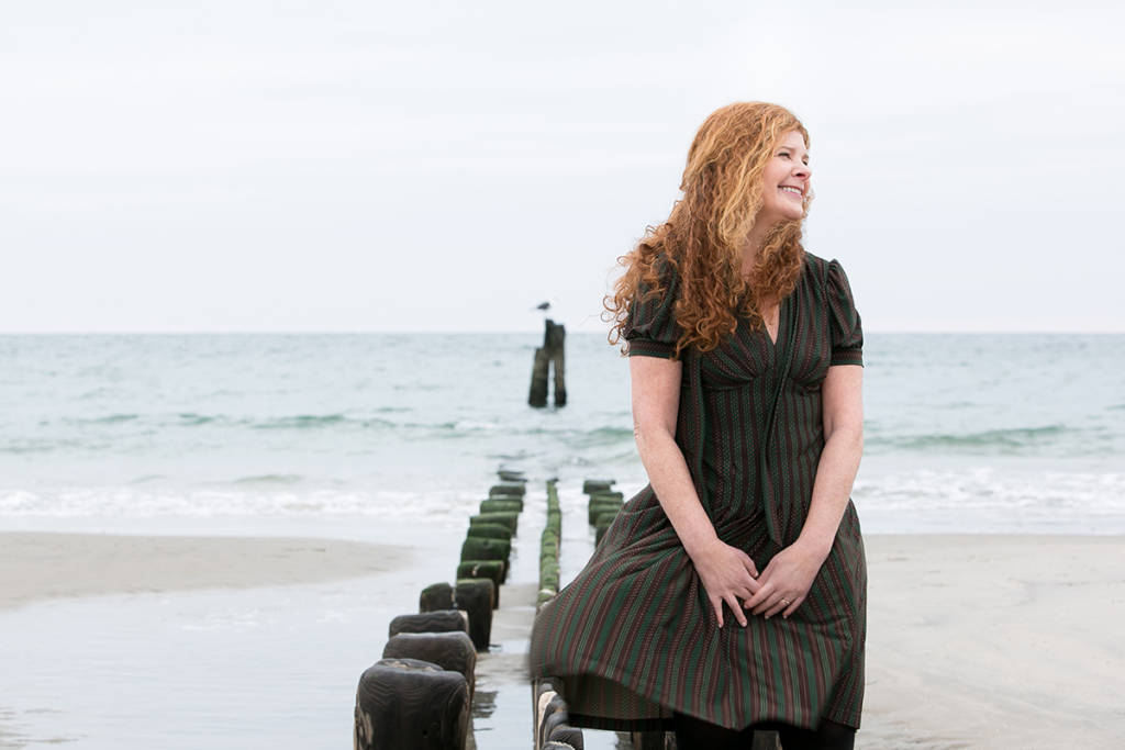 Jill Eisenstadt at the beach