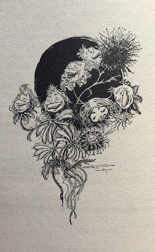 "Illustration of laughing flowers, taken from ""Prince Uno"""