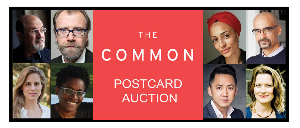 headshots of writers for postcard auction
