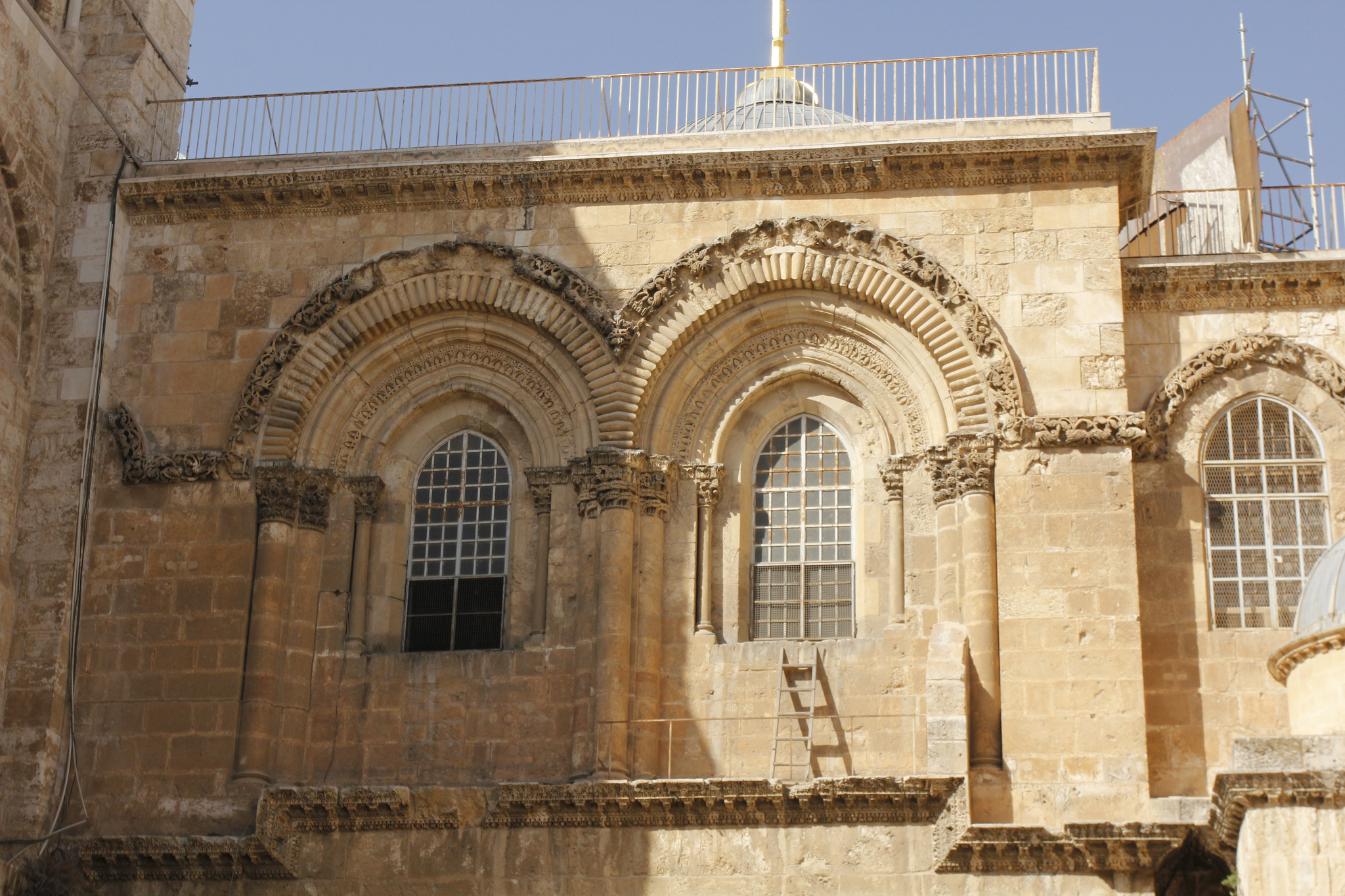 Immovable Ladder at the Church of the Holy Sepulcher; Jerusalem
