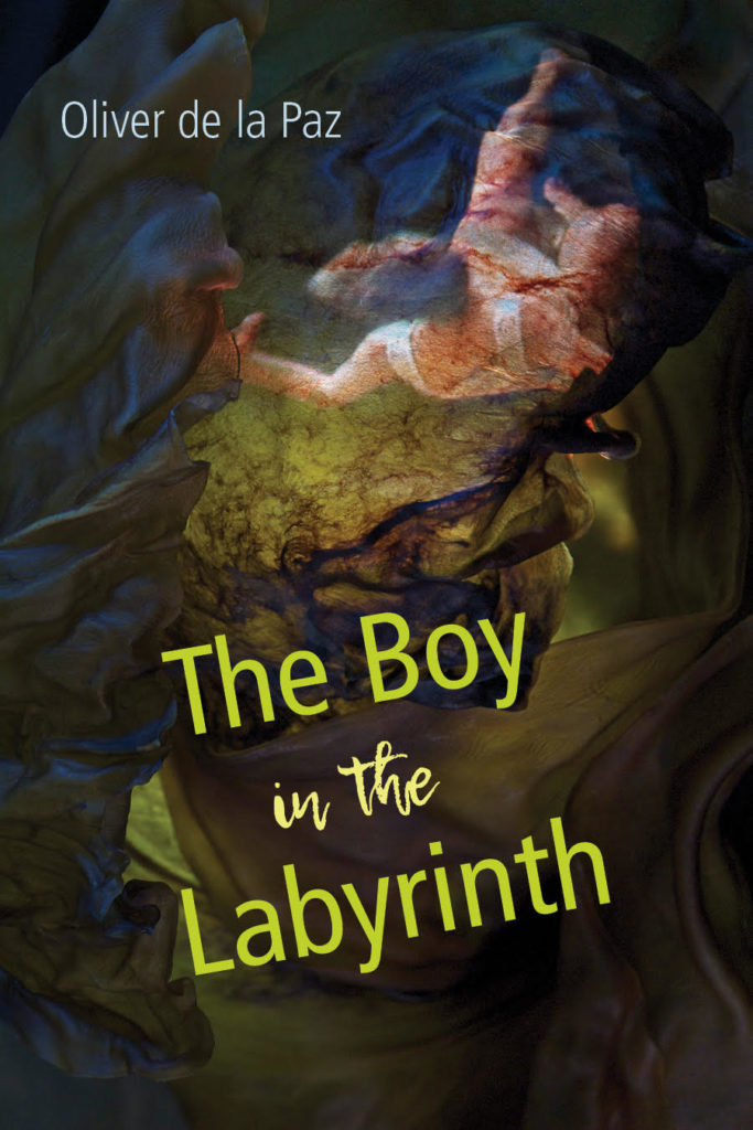 The cover of Oliver de la Paz, The Boy in the Labyrinth