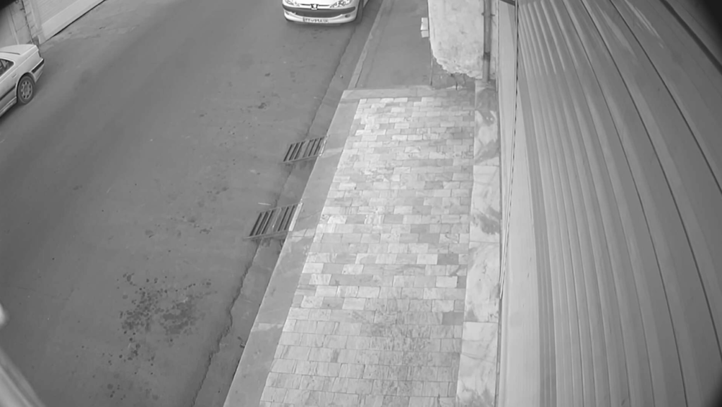 Public surveillance footage of Tehran, Iran, depicting street stones