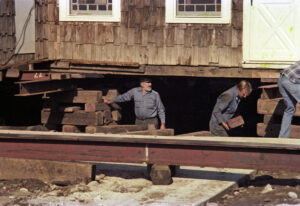 Men working on house