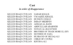 list of iraqi civilians killed in war