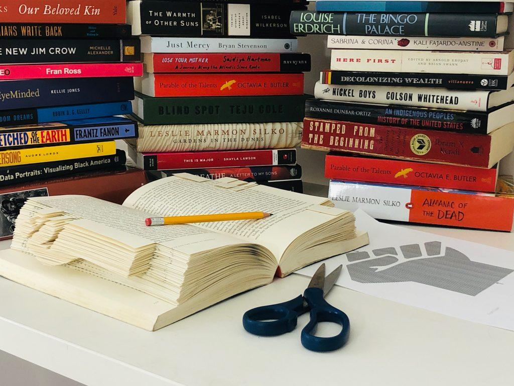 Book near scissors